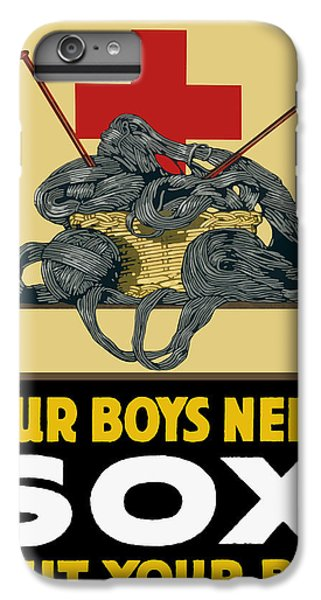 Cross iPhone 8 Plus Case - Our Boys Need Sox - Knit Your Bit by War Is Hell Store