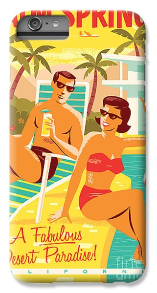 Desert iPhone 8 Plus Case - Palm Springs Retro Travel Poster by Jim Zahniser