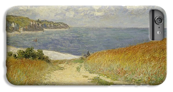 Impressionism iPhone 8 Plus Case - Path In The Wheat At Pourville by Claude Monet