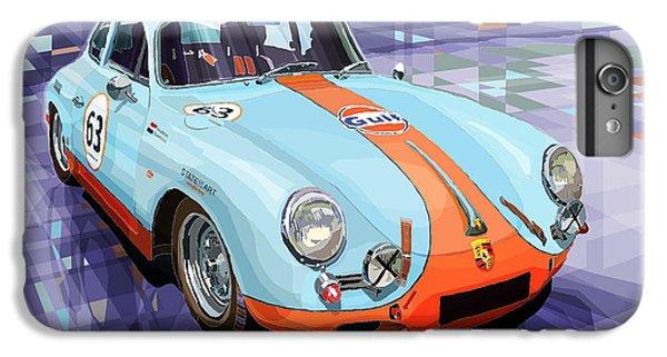 Car iPhone 8 Plus Case - Porsche 356 Gulf by Yuriy Shevchuk
