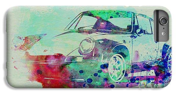 Car iPhone 8 Plus Case - Porsche 911 Watercolor 2 by Naxart Studio