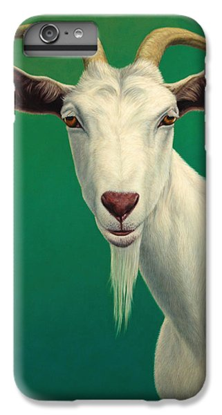 Rural Scenes iPhone 8 Plus Case - Portrait Of A Goat by James W Johnson