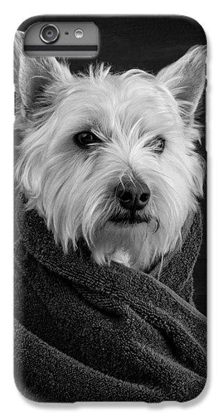 Dog iPhone 8 Plus Case - Portrait Of A Westie Dog by Edward Fielding