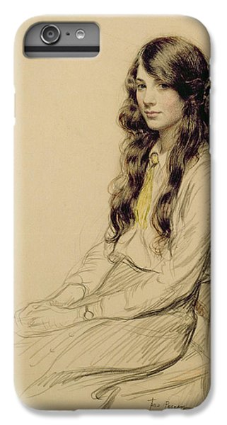 Cross iPhone 8 Plus Case - Portrait Of A Young Girl by Frederick Pegram