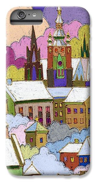 Castle iPhone 8 Plus Case - Prague Old Roofs Prague Castle Winter by Yuriy Shevchuk