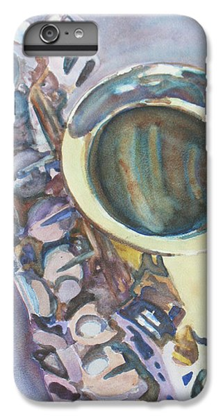 Saxophone iPhone 8 Plus Case - Purple Sax by Jenny Armitage