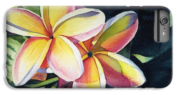 Flowers iPhone 8 Plus Case - Rainbow Plumeria by Marionette Taboniar
