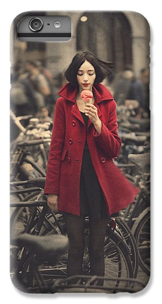 Bicycle iPhone 8 Plus Case - raspberry sorbet in Amsterdam by Anka Zhuravleva