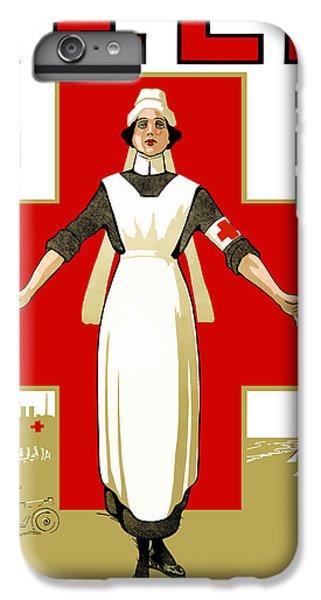 Cross iPhone 8 Plus Case - Red Cross Nurse - Help by War Is Hell Store
