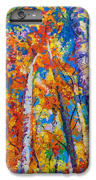 Impressionism iPhone 8 Plus Case - Redemption - Fall Birch And Aspen by Talya Johnson