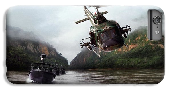 Helicopter iPhone 8 Plus Case - River Patrol by Peter Chilelli