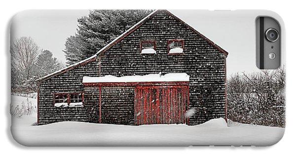 New England Barn iPhone 8 Plus Case - Roadside Barn In The Storm by Dan Jordan