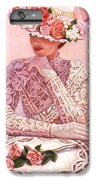 Rose iPhone 8 Plus Case - Romantic Lady by Sue Halstenberg
