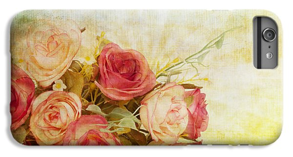 Rose iPhone 8 Plus Case - Roses Pattern Retro Design by Setsiri Silapasuwanchai