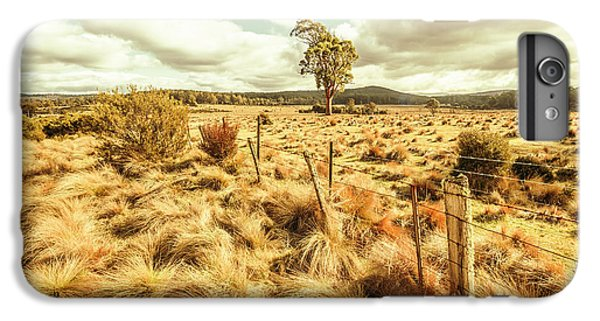 Shrub iPhone 8 Plus Case - Rugged Australian Pastures by Jorgo Photography - Wall Art Gallery