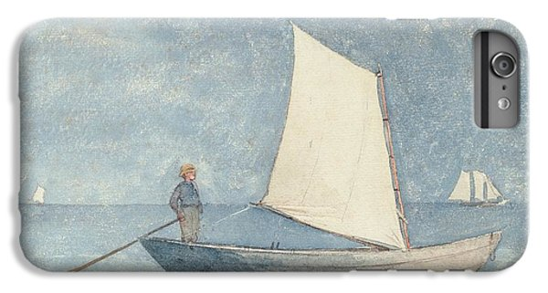 Boat iPhone 8 Plus Case - Sailing A Dory by Winslow Homer