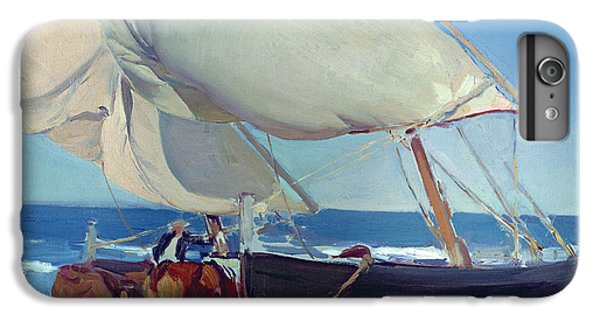 Boat iPhone 8 Plus Case - Sailing Boats by Joaquin Sorolla y Bastida
