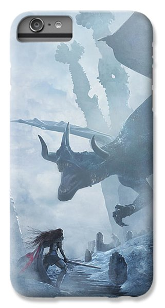 Knight iPhone 8 Plus Case - Santa Georgina Vs The Dragon by Guillem H Pongiluppi