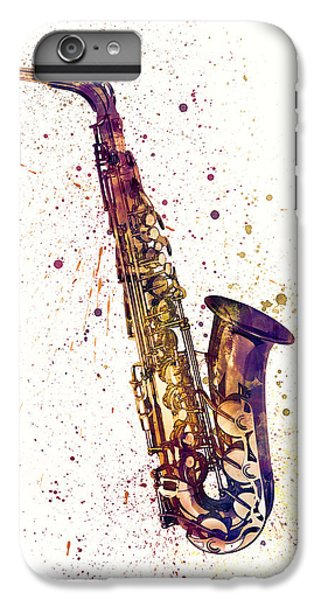 Saxophone iPhone 8 Plus Case - Saxophone Abstract Watercolor by Michael Tompsett