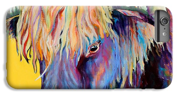 Cow iPhone 8 Plus Case - Scotty by Pat Saunders-White