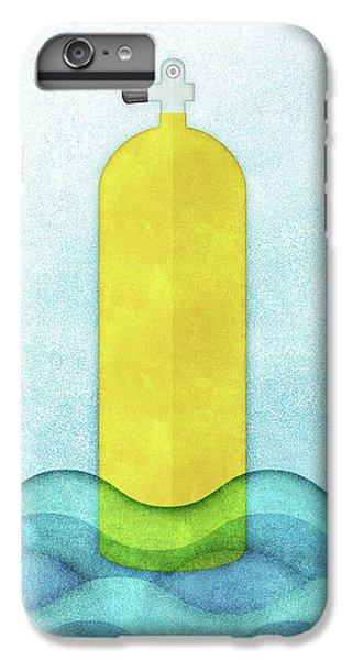 Scuba Diving iPhone 8 Plus Case - Scuba Diving - Yellow Tank On Blue by Flo Karp