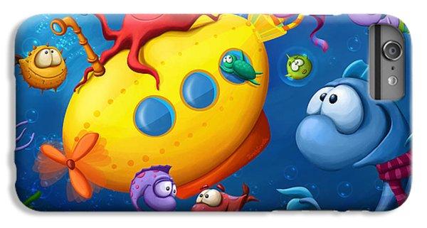 Scuba Diving iPhone 8 Plus Case - Sea Life by Tooshtoosh