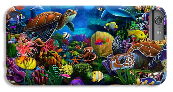 Scuba Diving iPhone 8 Plus Case - Sea Of Beauty by MGL Meiklejohn Graphics Licensing