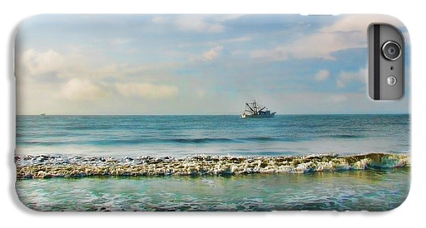 Shrimp Boats iPhone 8 Plus Case - Shrimp Boat Off Kiawah by Amy Tyler