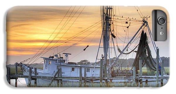 Shrimp Boats iPhone 8 Plus Case - Shrimp Boat Sunset Charleston Sc by Dustin K Ryan
