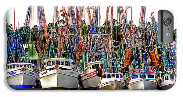 Shrimp Boats iPhone 8 Plus Case - Shrimp Fleet by Joe Benton