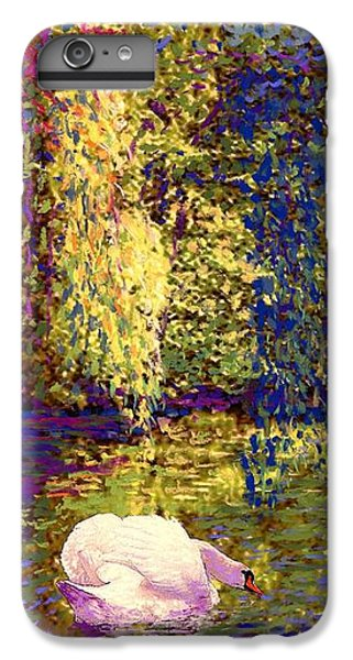 Impressionism iPhone 8 Plus Case - Swans, Soul Mates by Jane Small