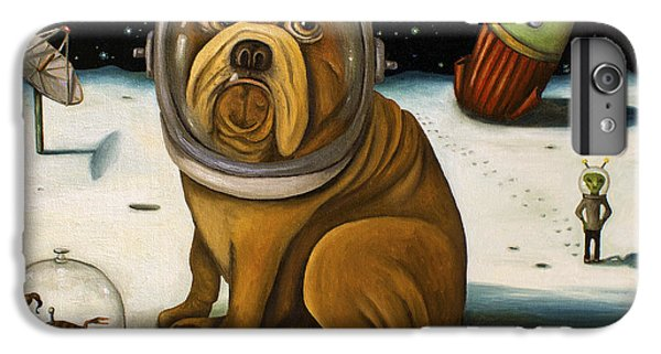 Dog iPhone 8 Plus Case - Space Crash by Leah Saulnier The Painting Maniac
