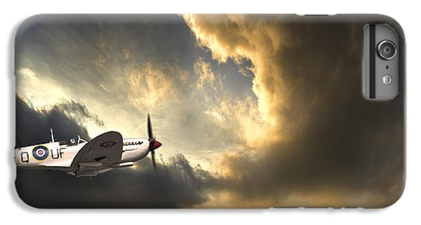 Airplane iPhone 8 Plus Case - Spitfire by Meirion Matthias