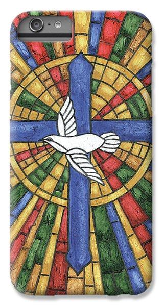 Cross iPhone 8 Plus Case - Stained Glass Cross by Debbie DeWitt