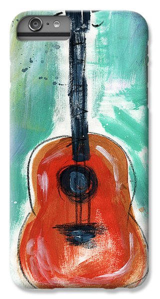 Rock And Roll iPhone 8 Plus Case - Storyteller's Guitar by Linda Woods