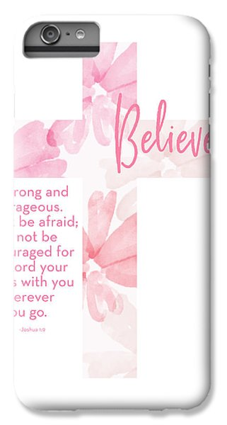 Cross iPhone 8 Plus Case - Strong And Courageous Cross- Art By Linda Woods by Linda Woods