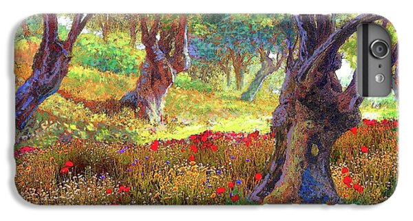 Daisy iPhone 8 Plus Case - Tranquil Grove Of Poppies And Olive Trees by Jane Small