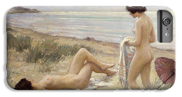 Nudes iPhone 8 Plus Case - Summer On The Beach by Paul Fischer