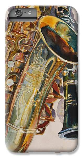 Saxophone iPhone 8 Plus Case - Taking A Shine To Each Other by Jenny Armitage