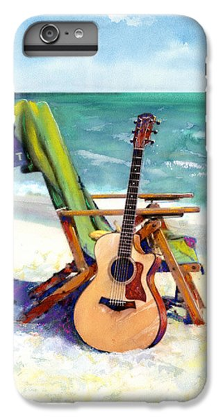 Guitar iPhone 8 Plus Case - Taylor At The Beach by Andrew King