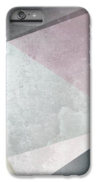 Rose iPhone 8 Plus Case - Textured Geometric Triangles by Pati Photography