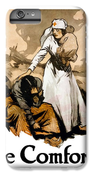 Cross iPhone 8 Plus Case - The Comforter - World War One Nurse by War Is Hell Store
