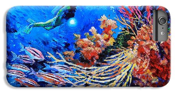 Scuba Diving iPhone 8 Plus Case - The Flow Of Creation by John Lautermilch