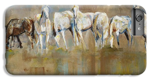 Horse iPhone 8 Plus Case - The Horizon Line by Frances Marino