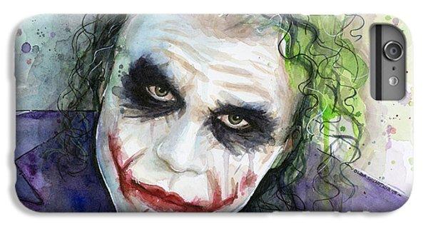 The iPhone 8 Plus Case - The Joker Watercolor by Olga Shvartsur