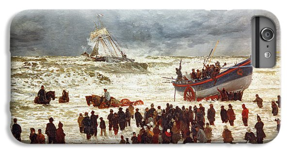 Boat iPhone 8 Plus Case - The Lifeboat by William Lionel Wyllie