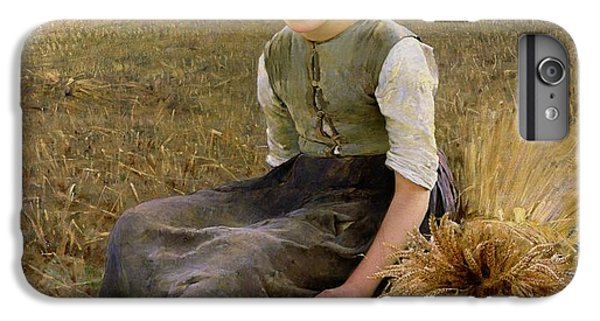 Rural Scenes iPhone 8 Plus Case - The Little Gleaner by Hugo Salmson