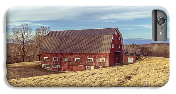 New England Barn iPhone 8 Plus Case - The Old Red Barn In Winter by Edward Fielding