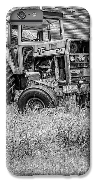 New England Barn iPhone 8 Plus Case - The Old Tractor By The Old Round Barn II by Edward Fielding