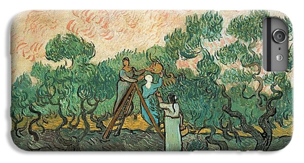 Rural Scenes iPhone 8 Plus Case - The Olive Pickers by Vincent van Gogh